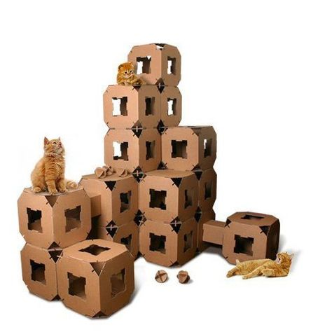 Cat Toys Ideas New Cube Cat Tower Toy House Pet Cardboard Tunnel Block 5piece Continue To The Sponsored Product Cat Castle Cat Tower Tree Cat Tower