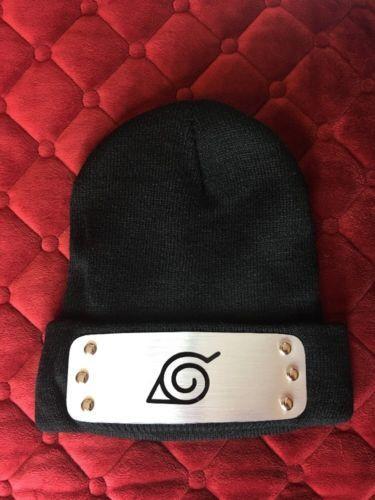 BEST NARUTO WINTER HAT CAP Black Protector look like Naruto Konoha Cosplay Ninja