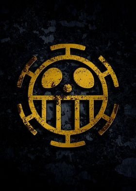 Anime Symbol Posters Art Set By Everything Anime Displate In 2021 One Piece Logo Anime Trafalgar Law