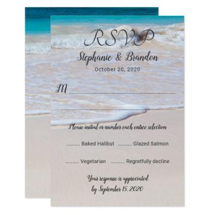Vertical Beach Scene Menu Rsvp Template Zazzle Com Wedding Invitation Cards Beach Wedding Invitations Wedding Invitations Diy