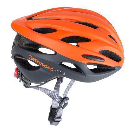 Retrospec Cm 3 Bike Helmet With Led Safety Light Adjustable Dial And 24 Vents Walmart Com Commuter Bike Bike Helmet Bicycle
