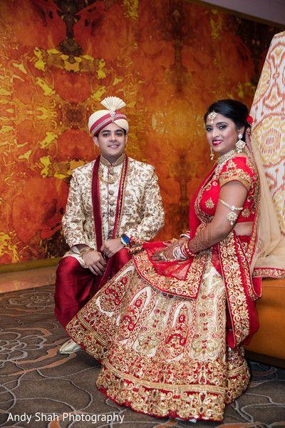 Indian Couple Couple Wedding Dress Red Wedding Outdoor Indian Wedding