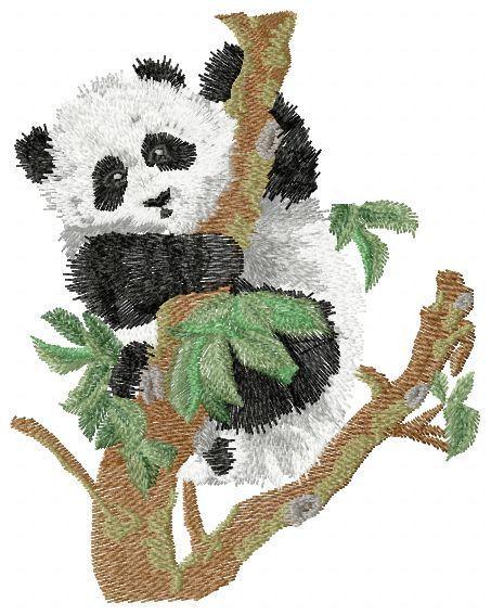 Nieuw Panda free embroidery - Animals free embroidery designs - Machine IT-48