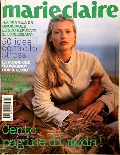 MARIE CLAIRE Italia Magazine 1994 DANIELA PESTOVA Elle MacPherson KIRSTEN OWEN