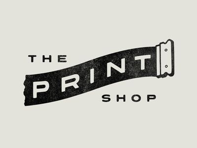 The Print Shop Logos Design Typography Design Printer Logo