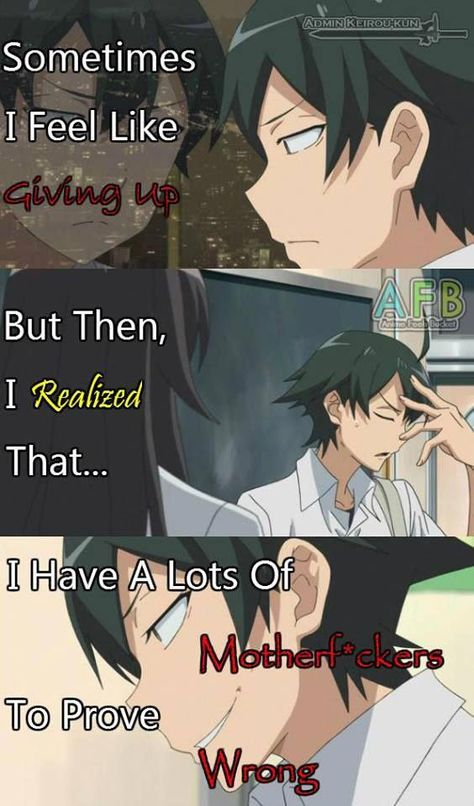 from facebook, anime feel more page. #animequotes