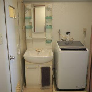 賃貸の洗面所diy 壁紙貼り モリスヘリテージカラーズその2 Ehami