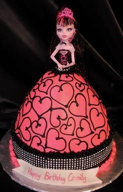 Pleasant Simple Flower Cake Decoration Monster High Cakes Doll Cake Personalised Birthday Cards Sponlily Jamesorg