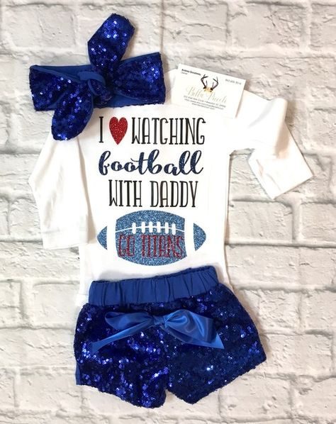 Tennessee Titans I Love Watching With Daddy Baby Short Sleeve Bodysuit
