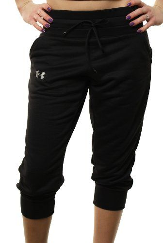 "Under Armour Women's Running Pants Semi-Fitted... Yea, yea I know they're for ""running"" but they look really comfy. The only running they'll ever do is from the bed to the fridge."
