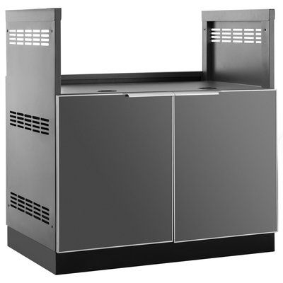 Newage Products Aluminum Glass Bbq Outdoor Bar Center Modular Outdoor Kitchens Outdoor Kitchen Cabinets Newage Products