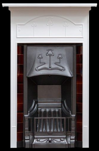 Tiled Mantel Combination Fireplace With Images Antique Fireplace Surround