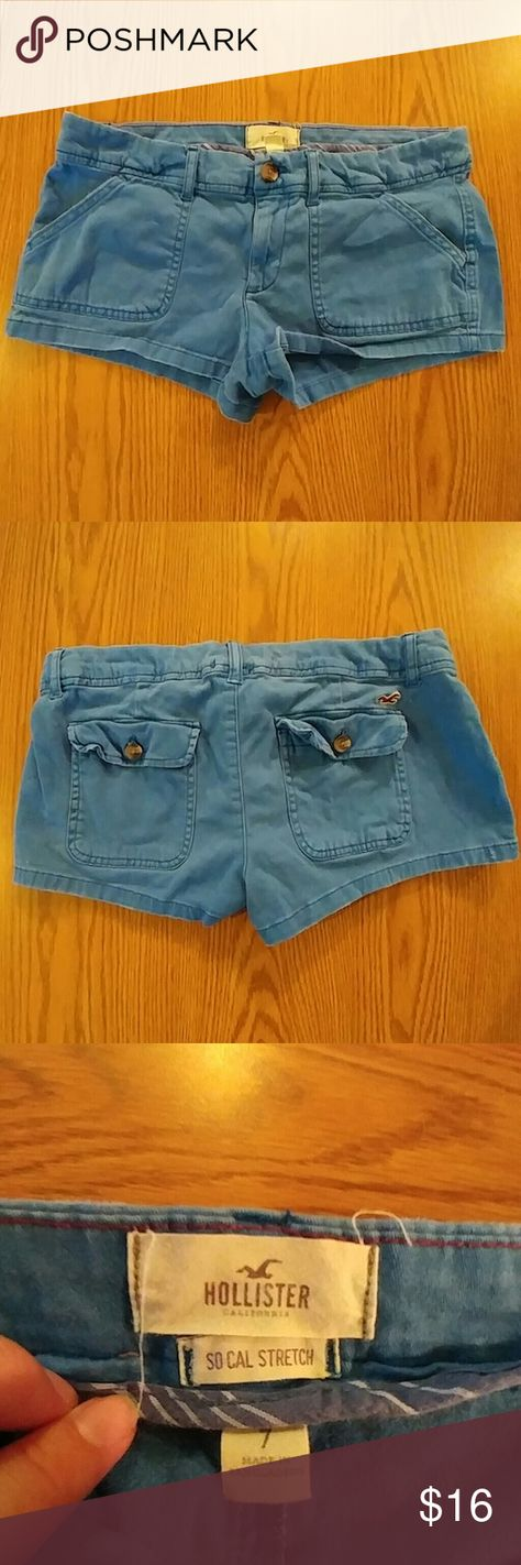 Hollister Shorts Light fading due to wear, no holes, no fraying. Size 7 98% cotton 2% elastane  message me with any questions! Hollister Shorts Jean Shorts