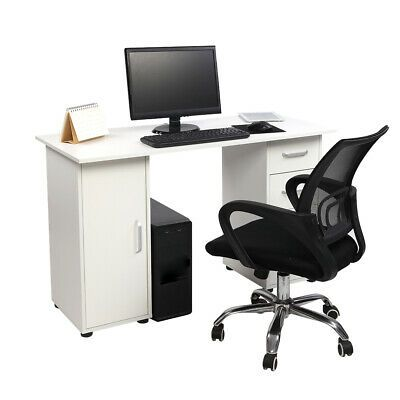 Computer Laptop Desk Home Office Furniture With 4 Drawers Sturdy Table Ebay In 2020 Computer Desks For Home Home Office Furniture Desk
