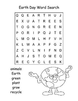 Fun And Easy Earth Day Word Search Puzzle For Kindergarten Thanks For Looking Earth Day Worksheets Earth Day Earth Day Activities Earth day worksheets for esl students