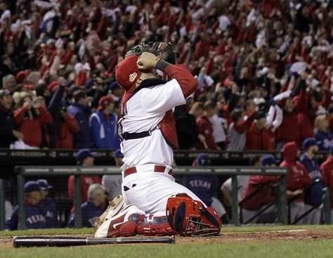 Yadi after the last out!