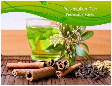 download natural herbal tea powerpoint template | health, Presentation templates