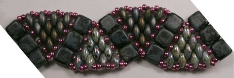 Super Duo Bead Patterns Free | SuperDuo beads are tapered and more closely resemble the Twin Beads ...