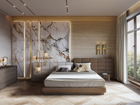 Interior Design Using Marble And Wood Combinations Luxurious Bedrooms Master Bedroom Interior Remodel Bedroom
