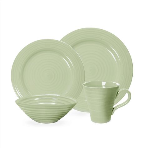 Portmeirion Sophie Conran Sage 4-piece Place Setting - Sophie Conran Sage Green - Collections - Portmeirion USA