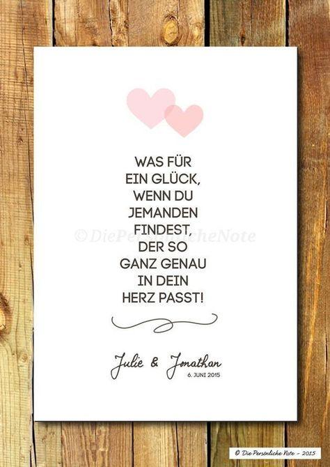 Gastgeschenke - Druck/Print: Wie füreinander geschaffen - Hochzeit - ein Designerstück von DiePersoenlicheNote