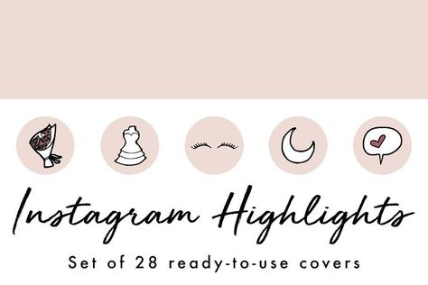 28 Instagram Stories Highlight Icons