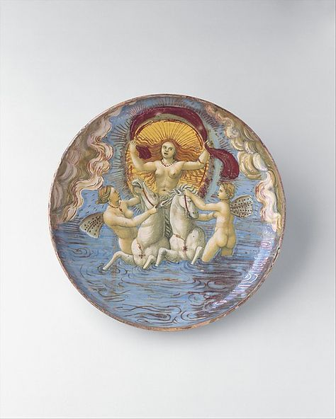 probably the In Castel Durante Painter   Aurora, goddess