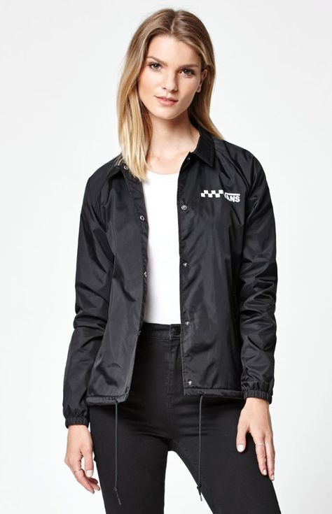 de320d713ff7 Vans Kastle windbreaker jacket. Vans logo at the left chest. Drawstring  hood. Zip front. Welt hand pockets. Elastic cuff long sleeves and he…