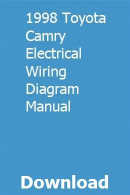 1998 toyota camry electrical wiring diagram manual 1998 Toyota Camry Electrical Wiring Diagram repair guides
