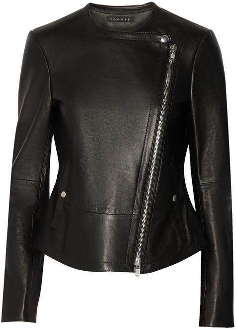 Theory Joean leather biker jacket