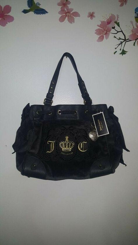 low cost running shoes best website Juicy couture bag Green & purple bag velvet/leather handles ...