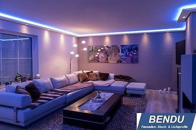 Nice BENDU LED Stuckleisten f r indirekte Beleuchtung Stuckprofile aus Hartschaum