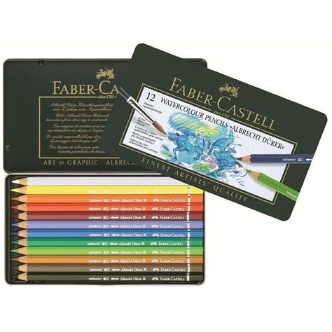 Faber Castell Albrecht Durer Watercolour Pencils 12 Tin