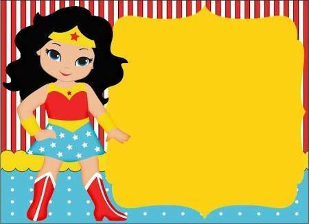 Invitación Mujer Maravilla Invitaciones Mujer Maravilla Y
