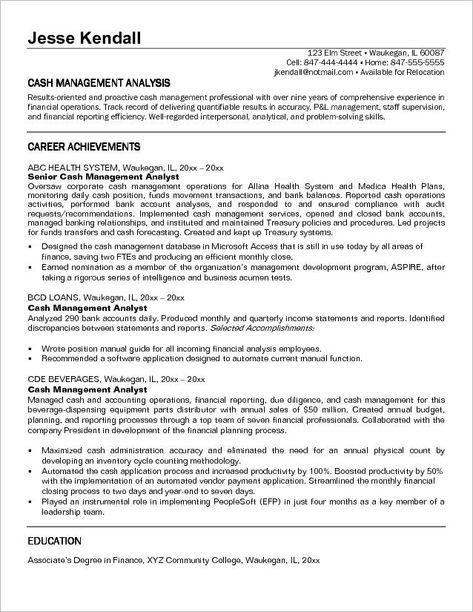 Market Research Analyst Resume Format - http\/\/wwwresumecareer - management analyst resume
