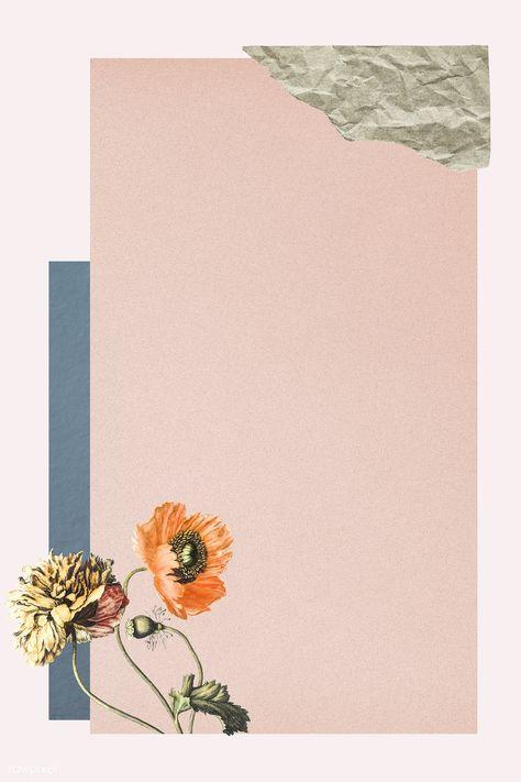 Download premium illustration of Vintage botanical collage background
