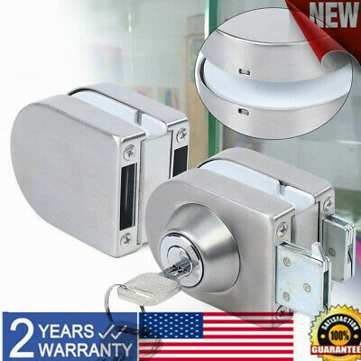 10mm 12mm Double Glass Door Lock Frameless Stainless Steel Home Office Security Ebay In 2020 Double Glass Doors Steel House Glass Door Lock