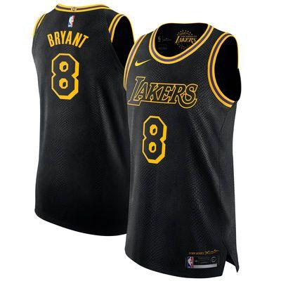 Men's Los Angeles Lakers 8 Kobe Bryant Nike Black Authentic Jersey ...