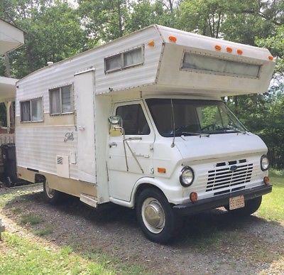 1970 Ford Econoline Shasta Class C Rv Motorhome Vintage Camper Vintage Camper Class C Rv Motorhome