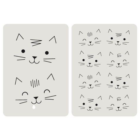 <p>Lot de 2 cartes chat avec le ravissant dessin de têtes de chats, dos blanc uni pour écrire votre message, coins arrondis, design Zü, fabriqué en France. Pour compléter un cadeau et laisser un message personalisé. On aime son graphisme et la bouille des chats !</p>