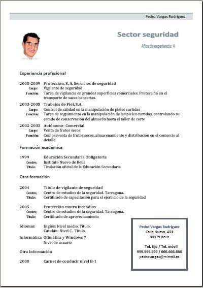 Openoffice Modelos De Curriculum Vitae Curriculum Vitae