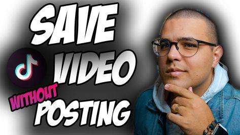 How To Save Tik Tok Draft Video In Gallery Without Posting Save Tiktok Draft Video To Gallery Video Digital Literacy Instagram Growth Social Media Strategies