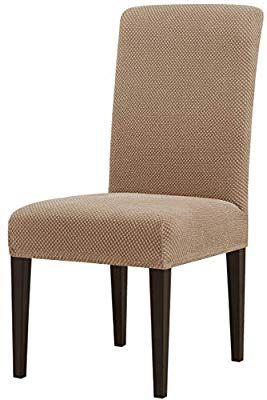 Amazon Com Subrtex Jacquard Dining Room Chair Slipcovers Sets Stretch Furniture Prote Dining Room Chair Slipcovers Slipcovers For Chairs Parsons Dining Chairs