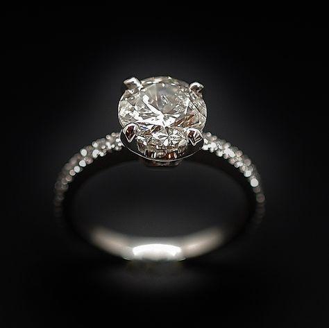 rétro nouvelle apparence vente chaude pas cher à vendre : 5800€ Solitaire en or gris 18k avec Diamant ...
