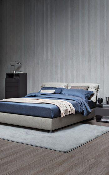 Bett Design hoch italienische Möbel blaue Wand Für mein - italienische schlafzimmer katalog