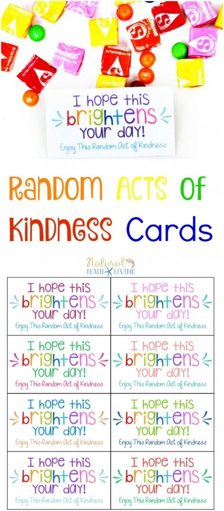 The Best Random Acts of Kindness Printable Cards Free - Natural Beach Living