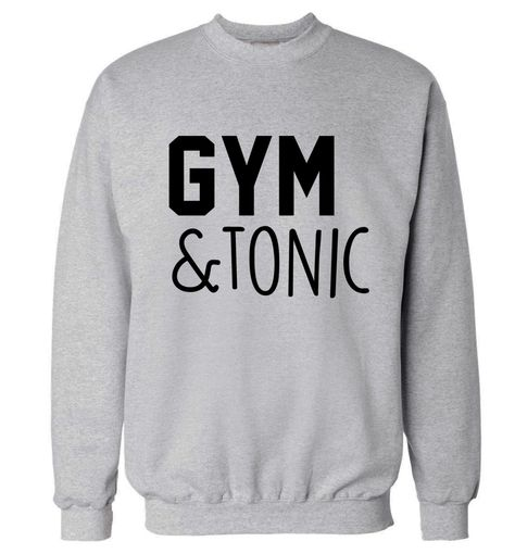 fb26c0d8a New to FloxCreative on Etsy: Gym and Tonic sweatshirt funny workout fitness  muscle exercise run drink wine gift slogan hipster tumblr instagram gin  jumper ...