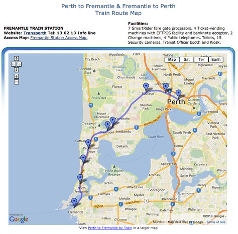 Perth International Airport To Fremantle Driving Directions Map - Perth world map