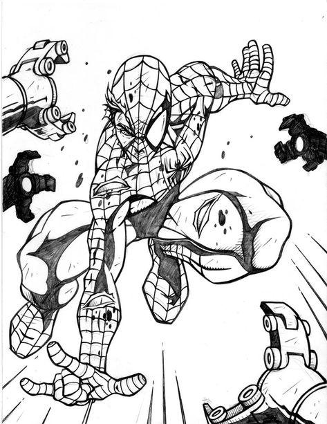 spiderman coloring pages online  malvorlagen tiere