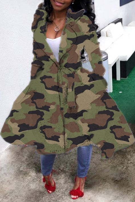 Lovely Casual Camouflage Printed Long Coat_Coat&Jacket_Outwear&Coats_LovelyWholesale | Wholesale Shoes,Wholesale Clothing, Cheap Clothes,Cheap Shoes Online. - LovelyWholesale.com